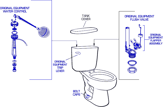 genuine american standard 2359 toilet replacement parts