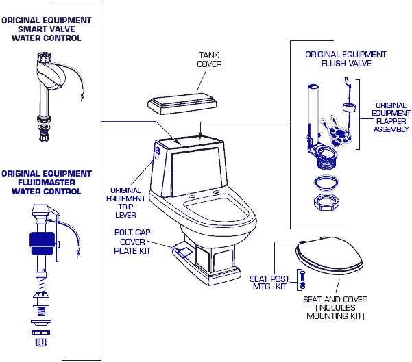 replacing toilet tank parts. Description American Standard 2176 124 Heritage Toilet Repair Parts