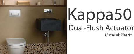 Geberit Kappa50 Dual Flush Actuators