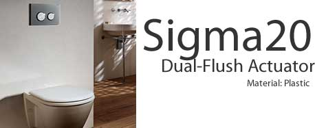 Geberit Sigma20 Dual Flush Actuators