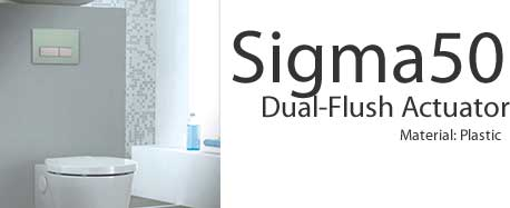 Geberit Sigma50 Dual Flush Actuators